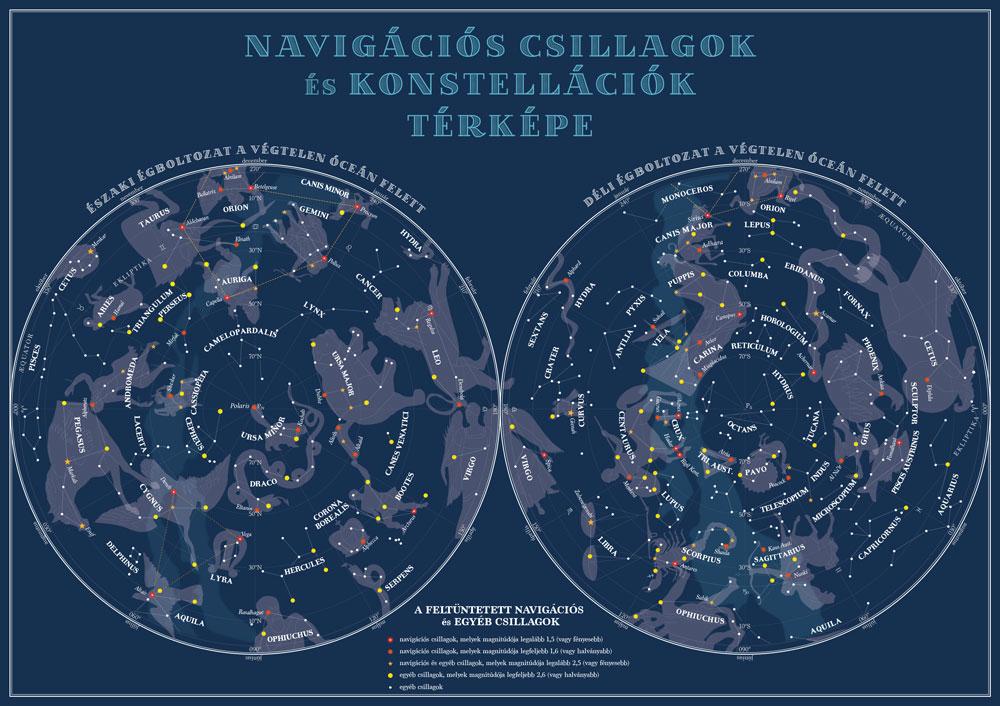 Jachtnavigátor II. csillagtérkép