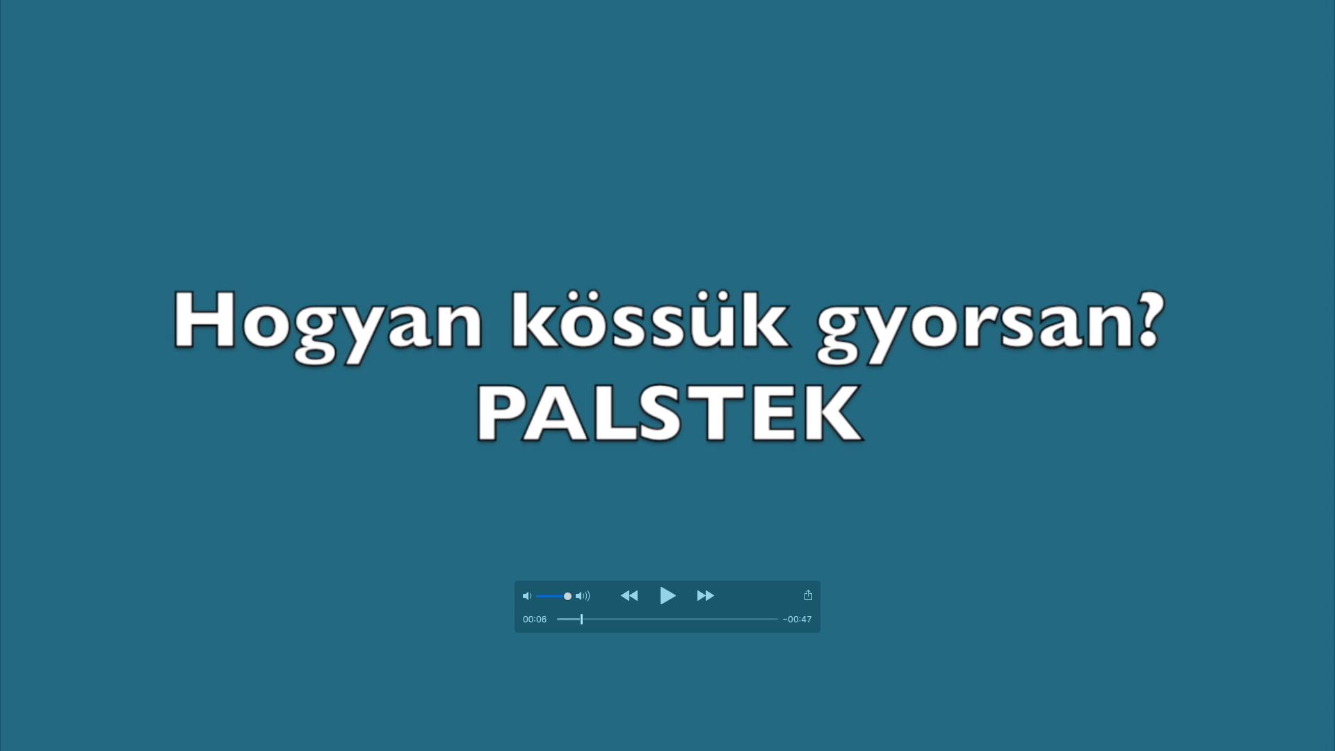 Palstek videó