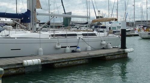 hurka- vagy háromszög alakú fenderek, amik megkönnyítik a belépést a hajóra